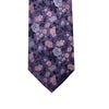 Knotz Tie, Purple Floral. Can be paired with any coloured suit and shirt.