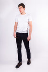 DFR89 Jeans, Carbon. Super stretch, navy blue denim jeans. Built for style and comfort.