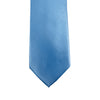 A solid blue microfiber Knotz tie, best paired with a blue-striped dress shirt and navy dress pants. Great for business suits and wedding suits.