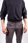 DFR89 grey slim casual pants, stretchy cotton and very comfortable. Great for casualwear and dressy looks.
