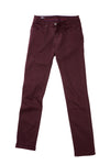 DFR89 burgundy slim casual pants, stretchy cotton and very comfortable. Great for casualwear and dressy looks.