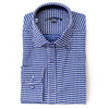 Differ 1989 Navy Polka-Dot Dress Shirt, cotton, semi-slim, that can be easily paired with jeans and suits
