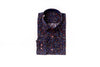 Differ 1989 Navy Floral Dress Shirt, cotton, semi-slim, that can be easily paired with jeans and suits
