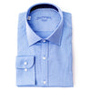 Differ dress shirt, blue cotton, semi-spread collar that is a fundamental piece in every man's business wardrobe.