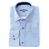 Differ 1989 Blue Dress Shirt, cotton, semi-slim, that can be easily paired with jeans and suits