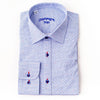 Differ 1989 Grey Dress Shirt, cotton, semi-slim, that can be easily paired with jeans and suits