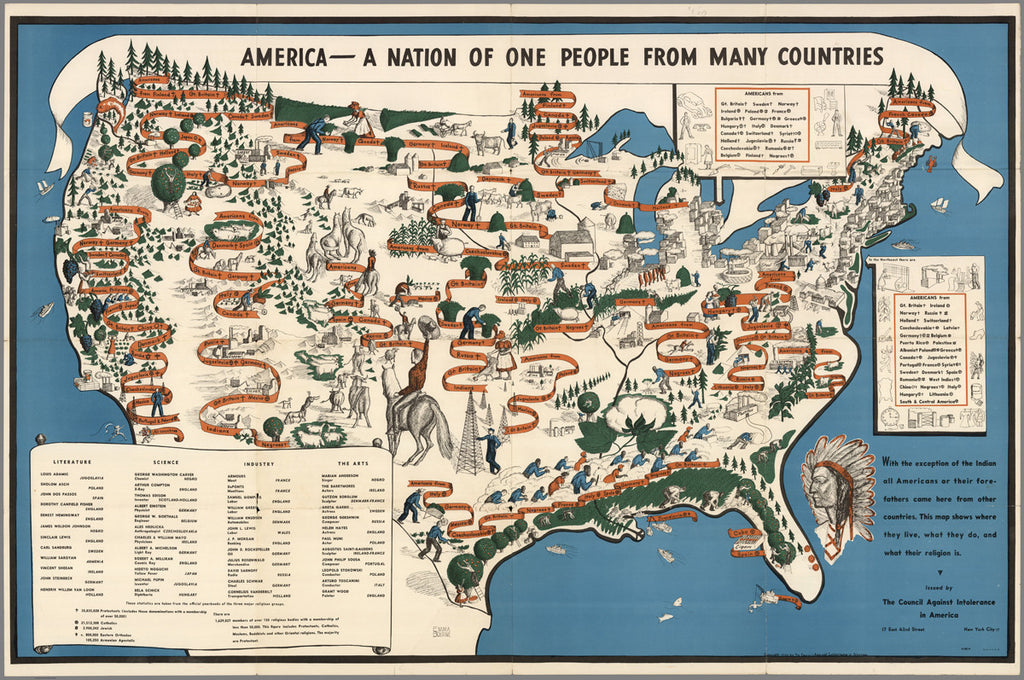 America a nation of one people from many countries mapisart america a nation of one people from many countries gumiabroncs Image collections