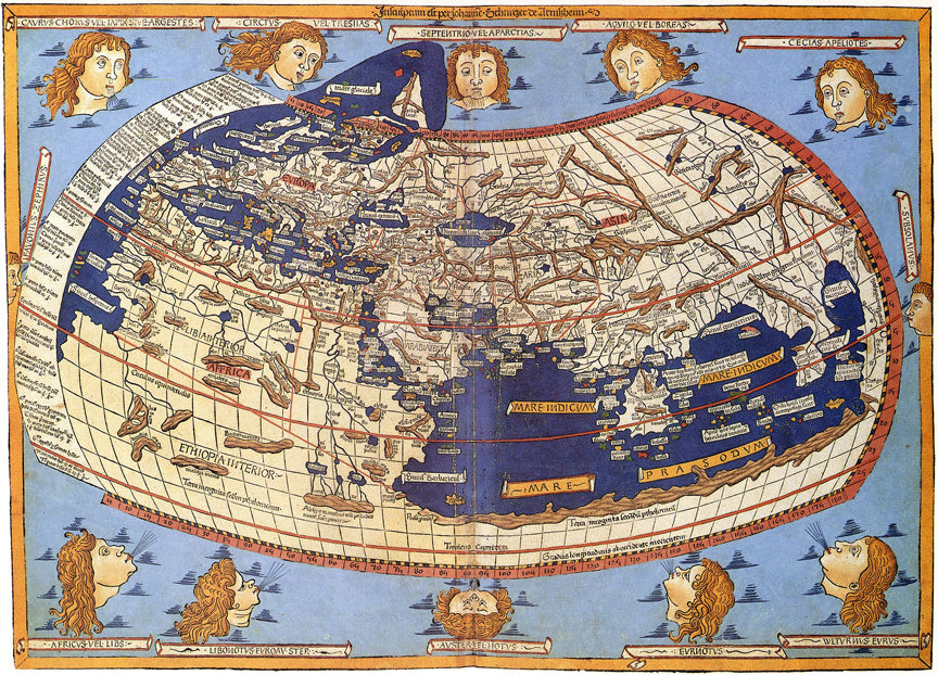 Ptolemys map and the importance of accuracy mapisart we have to give ptolemy some credit hes the first cartographer that had a pretty successful round globe painted on a 2 dimensional surface gumiabroncs Image collections