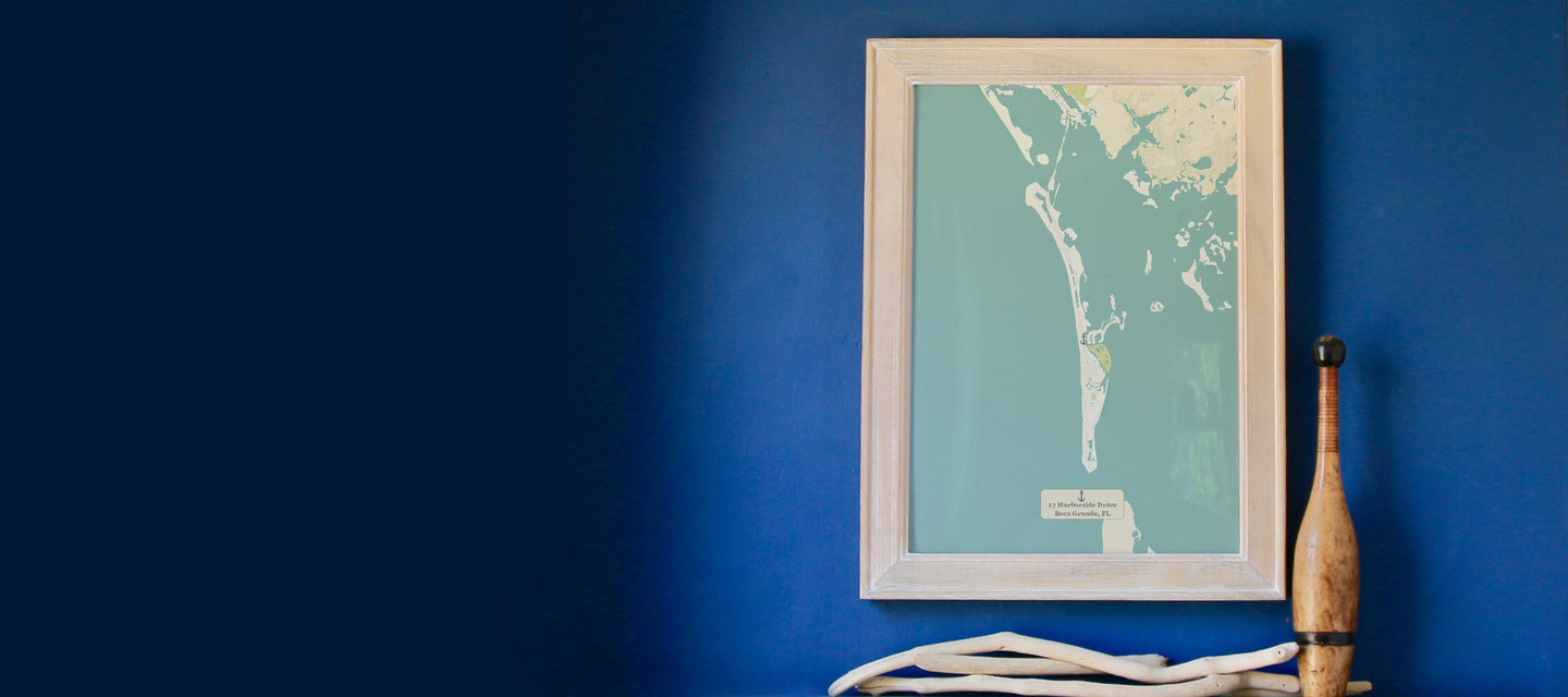 Personalized Map, framed