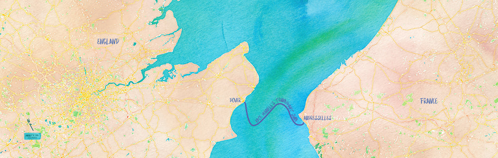 English Channel Swim Map