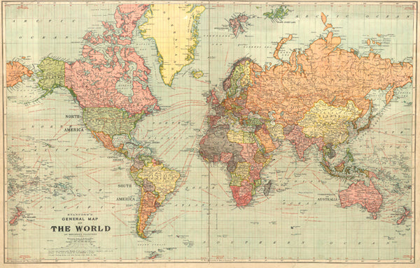 Stanford's World Map, c. 1920