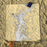 Rock Hall Nautical Chart Blanket