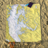 Easton Nautical Chart Blanket