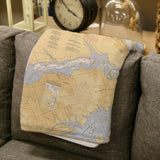 Navesink Nautical Chart Map Blanket