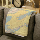 Alexandria Bay Chart Map Blanket