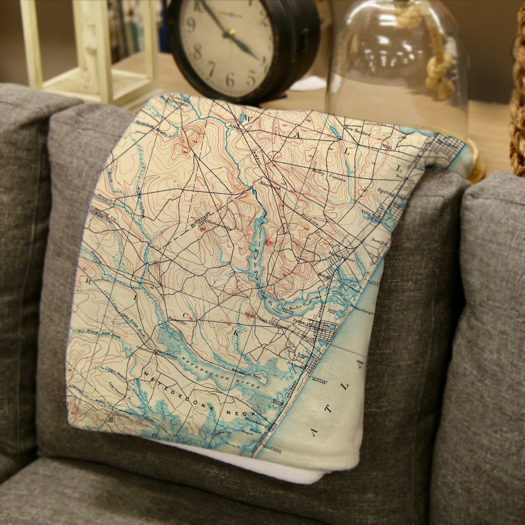 Bay Head Antique Map Blanket