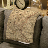 Minnesota Vintage Map Blanket