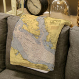 Colonial Beach / Potomac River Map Blanket