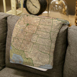 United States Vintage Map Blanket