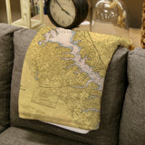 Annapolis Nautical Chart Blanket
