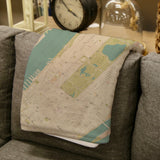 New York City Map Blanket
