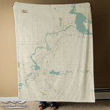 Eau Claire Sea Glass Style Map BLANKET Blanket