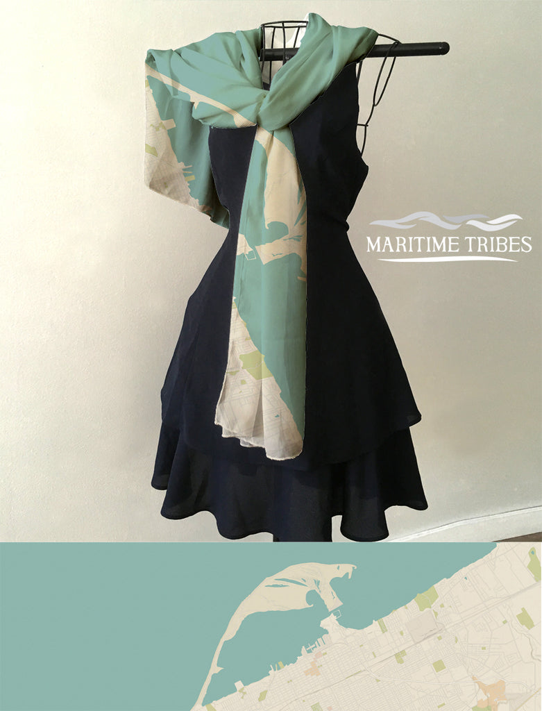 Presque Isle, Sea Glass Scarf