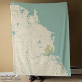 Scituate, MA Sea Glass Map Blanket