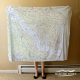 Northern Neck Topo Map Blanket