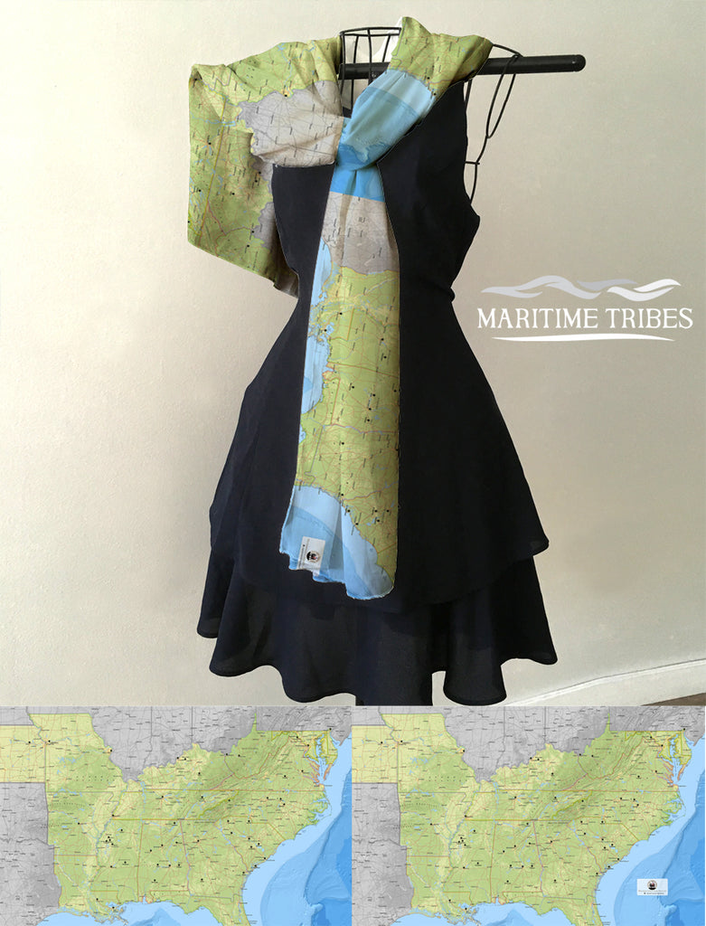 Civil Rights Trail Map  Scarf