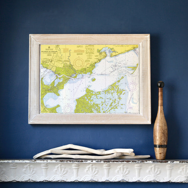 Lake Borgne, Mississippi Chart Framed Map