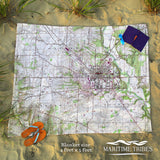 Oxford, OH Topo Style Map Blanket