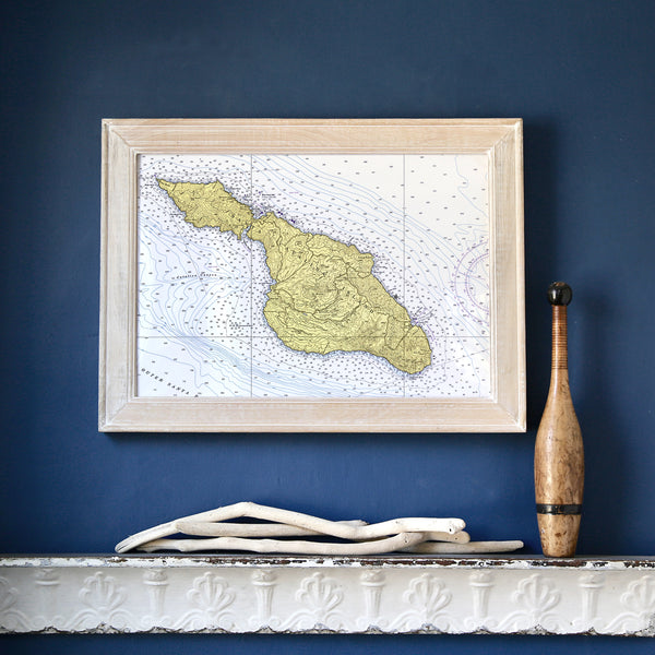 Catalina Island Framed Map