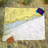 Great South Bay Chart Blanket, Long Island