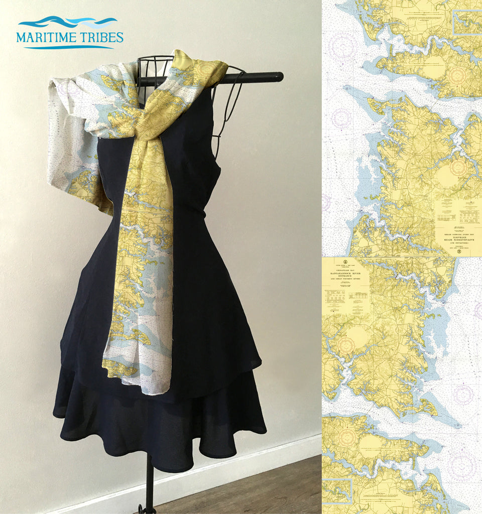 Chesapeake Bay (Irvington)  Map Scarf