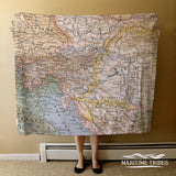 Austria / Hungary Vitnage Map Blanket
