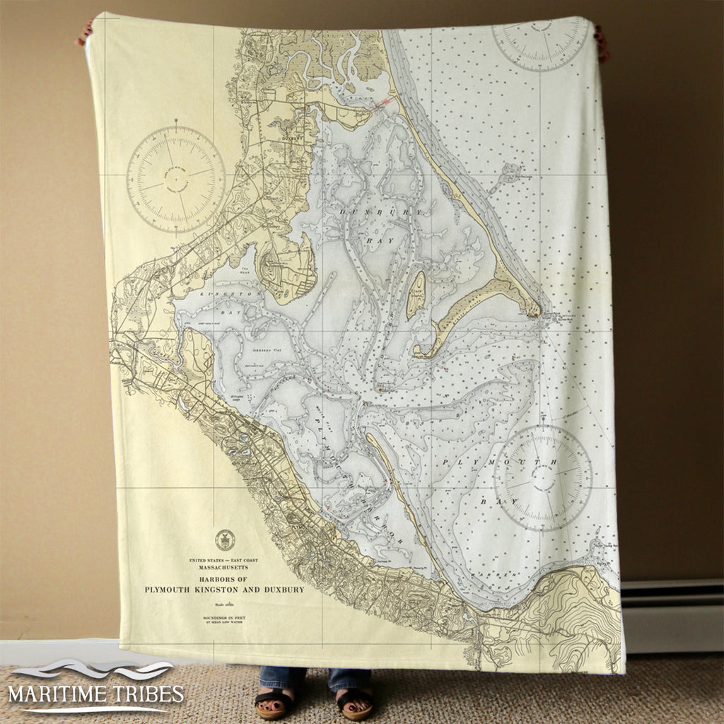 Plymouth vintage Chart Blanket