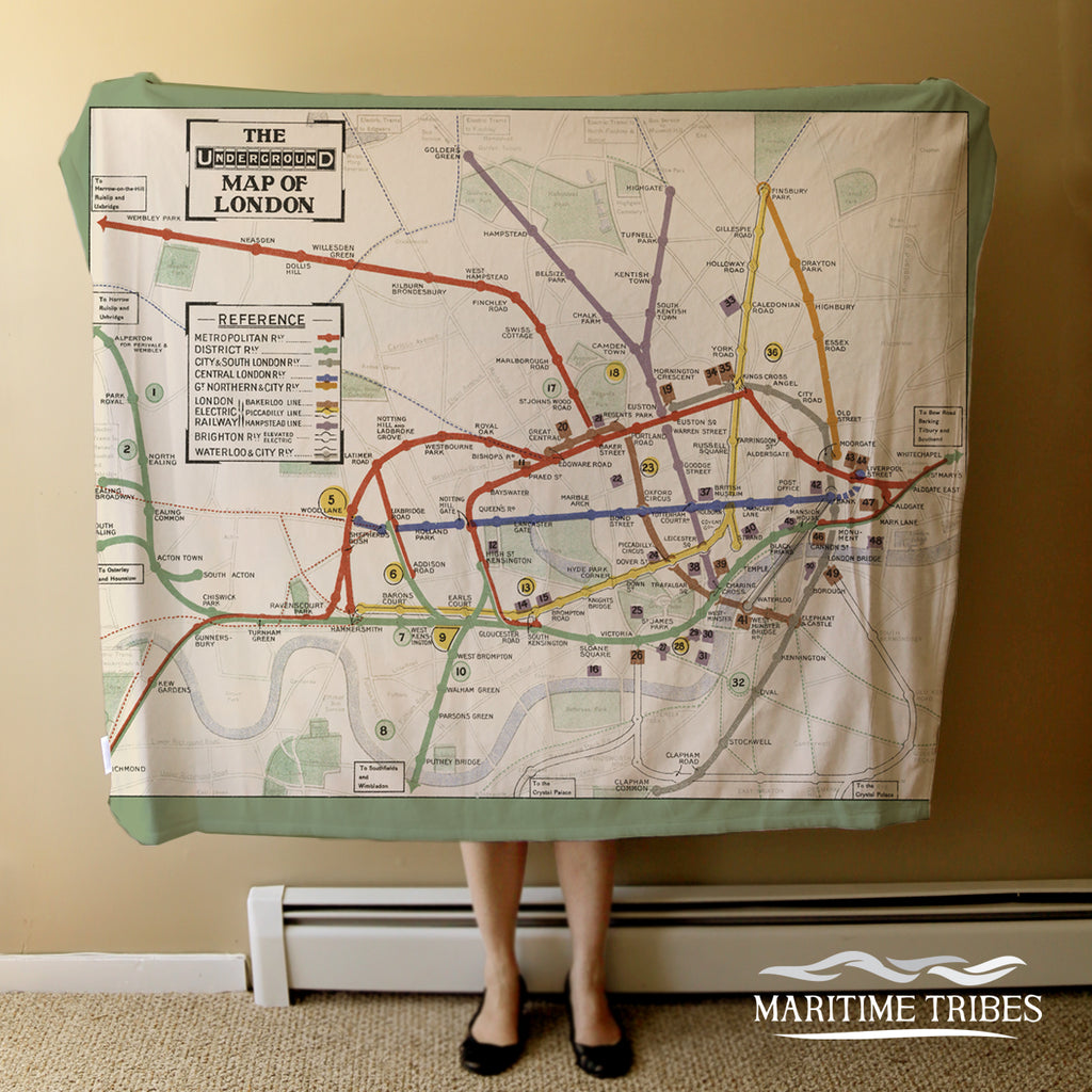 London Underground Vintage Map Blanket