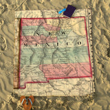 New Mexico Vintage Map Blanket