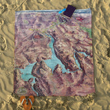 Nevada Vintage Map Blanket