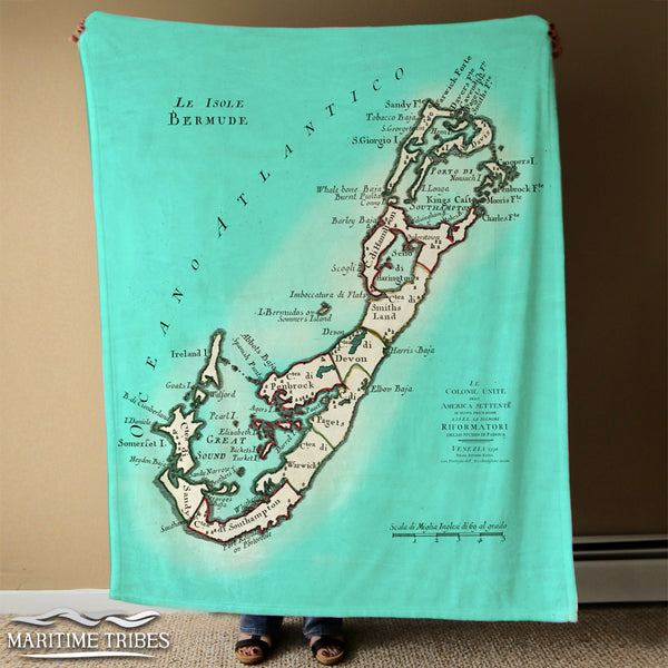 Bermuda Map Blanket