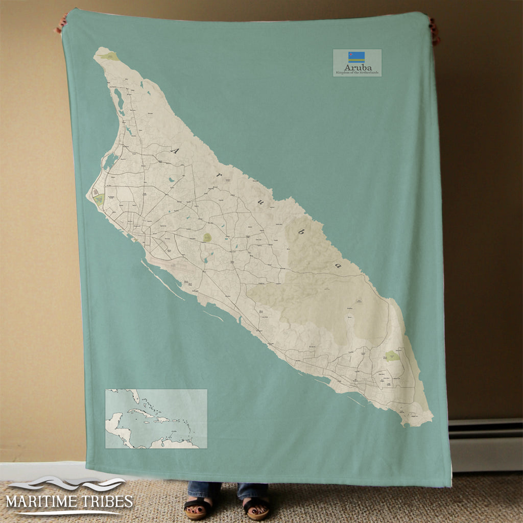 Aruba Map Blanket
