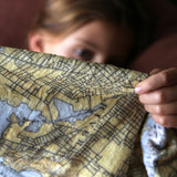 Puerto Rico Vintage Chart Blanket