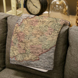 West Virginia Vintage Map Blanket