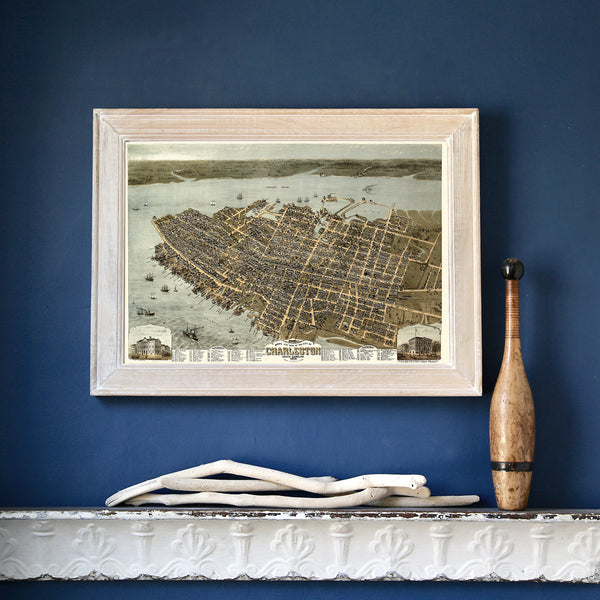 Charleston, 1872 Framed Map