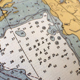 Block Island Vintage Nautical Chart