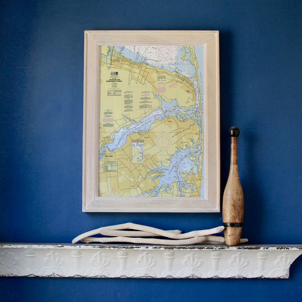 Navesink and Shrewsbury Rivers NJ Nautical Chart Framed Map