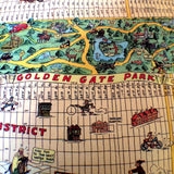 San Francisco tourist map, pre Golden Gate Bridge!