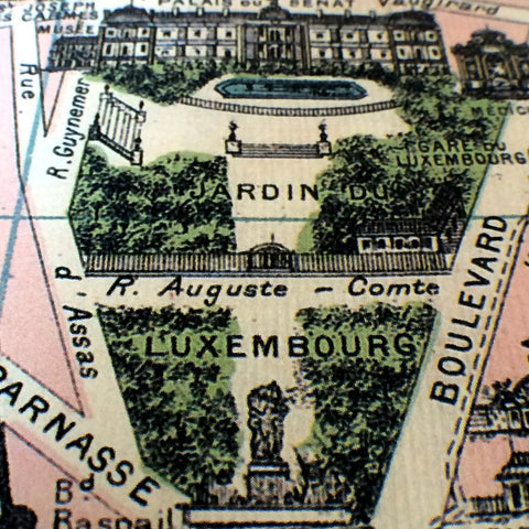 Paris Tourist Map c. 1890
