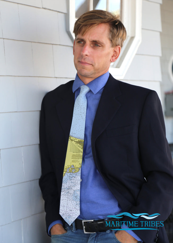 Osterville Nautical Chart Tie